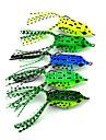 "5 pcs Leurre souple / leurres de pêche Leurre souple / Grenouille Vert / Jaune / Vert clair / Vert sapin / Bleu 8 g/5/16 Once,55 mm/2-1/4"""