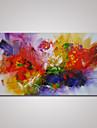 HANDMÅLAD Abstrakt Horisontell Panorama,Moderna En panel Hang målad oljemålning For Hem-dekoration