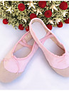 Chaussures de danse(Noir Rose Rouge Ivoire Blanc) -Non Personnalisables-Talon Plat-Cuir Toile-Ballet