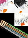 15st akryl nail art konstruktion målning teckning penna pensel (3 färgar väljer) med 5st 5 färger storlekar uv gel pensel set