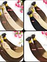 """nano slinga jungfru hår ombre två ton dip dye 12 """"-26"""" 1g / s 100g + 100beads 100% brasilianskt jungfruligt hår nano ringen förlängning"""