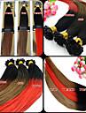 100pcs 12-26 pouces brésilienne de cheveux vierge ombre colorant dip humaine u Astuce extensions de cheveux deux extensions de cheveux de
