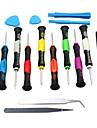 16 i en reparera verktyg öppningssats isär skruvmejslar för iPhone Tablet PC / PDA / mobil mobiltelefon mångsidig