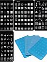 Tecknat/Blomma/Abstrakt/Vackert/Punk/Bröllop - Finger/Tå/Andra - 3D Akrylform för Naglar - av Metall - 4PCS(4 Design Mixed) - styck
