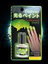 fluorescerande ljus lyser i mörkret nagellack nagellack färg halloween tinta fosforescente pintura