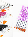 15pcs acrylique nail art stylo peinture dessin de conception brosse (3 couleur choisir) avec uv 7pcs brosse à cheveux gel ensemble de