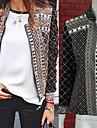 Lång ärm KVINNOR Rockar & Jackor ( Polyester )med Kåpa i Strand / Casual stil