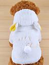 Hundar Huvtröjor Vit Hundkläder Vinter Enfärgat