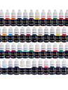 encre de tatouage Solong 54 couleurs définies 8 ml / bouteille tatouage kit de pigment