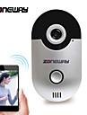 zoneway® d1 wi-fi video dörrklocka version 1.0 med 2,5 vidvinkelobjektiv, 10 meter mörkerseende