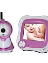"""caméra IP pour la chambre de bébé vision nocturne écran LCD 3,5 """"(1/3 pouce CMOS de ligne de 380TV)"""