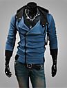 Sets Activewear Pour des hommes Manches longues Décontracté / Travail / Sport / Grandes Tailles Couleur plaine Mélange de Coton