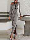 Robes ( Coton ) Sexy / Soirée Epaule dégagée à Manches longues pour Femme