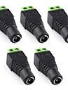 5pcs DC 5.5 x 2.1mm alimentation jack femelle connecteur de l'adaptateur pour caméra de surveillance
