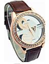 pentru Doamne Ceas La Modă Quartz PU Bandă Ceas de Mână Negru / Roșu / Maro