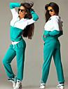 Lång ärm KVINNOR Kostymer ( Romerskt Stickad )med Rund i Sexig / Casual / Arbete stil