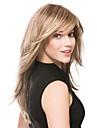 moyen de lumière de haute qualité perruques blondes syntheic extensions perruque de cheveux raides