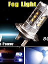 1920lm 7000K svalt vitt h7 hög effekt 80w LED-lampa dimma drivande DRL LED-belysning 12V