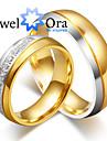 Pentru femei Pentru cupluri Inele Cuplu Verighete Iubire La modă Placat cu platină Oțel Circle Shape Bijuterii Bijuterii PentruNuntă