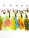 4 st Mjukt bete Fiskbete Mjukt bete Spinnfluga phantom Blandade färger g/Uns,100 mm tum,Metall Silikon Sjöfiske Drag-fiske Generellt fiske