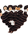 brasilianska jungfru vinkar djupt människohår väver # 2 mörkbruna högsta kvalitet djup våg hår vävda