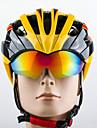 Promend Dam Herr Unisex Cykel Hjälm 27 Ventiler Cykelsport Cykling Bergscykling Vägcykling Rekreation Cykling L: 58-61CM PC epsGul Vit