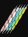 5st 2-vägs negl konst utspridda färgglada vågor hanterar punkt verktyg kit