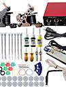 itatoo® professionell komplett mini tatuering kit 2 vapen maskin set tatuering bläck strömförsörjning tattoo nålar