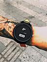 Bărbați Ceas La Modă Ceas de Mână Quartz Ceas Casual Piele Bandă Cool Negru Alb Negru