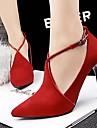 Pantofi pentru femei - Piele de Căprioară - Toc Stiletto - Tocuri / Vârf Ascuțit - Pantofi cu Toc - Nuntă / Rochie / Party & Seară -Negru
