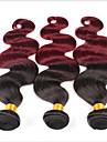 """3 st / lot 8 """"-30"""" brasilianska jungfru hår röda ombre lös våg människohår väva buntar löst lockigt hår våg"""
