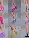 Princesse Chaussures Pour Poupée Barbie Marron / Argenté / Rose / Jaune Chaussures Pour Fille de Doll Toy