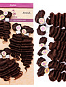 """evet vague profonde brésiliens tisse faisceaux brésilien trame de cheveux # 4 sombre couleur brune 4x8 """"1x10"""" 1x12 """"200g / lot nouvelle"""