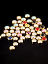 100st färgrik pärla metallkantlist nagel konst dekorationer