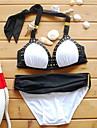 femei bikini alb, bloc de culoare bandeau