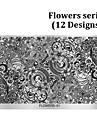 Blomma - Finger / Tå - Andra Dekorationer - av Metall - 1pcs nail plate - styck 10.5cmX16cm each piece - cm
