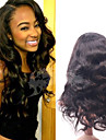ali drottning brasilianskt jungfruligt hår kropp wavehuman hår spets front peruk för svarta kvinnor 130% täthet fri frakt