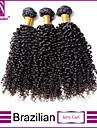 """3pcs / lot 12 """"-30"""" cheveux brésiliens vierges noires naturelles, Jerry friser extensions de cheveux humains tisse les cheveux"""
