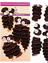 """evet brasiliansk vinkar djupt 6st 4x8 """"1x10"""" 1x12 brizilian jungfru hår buntar erbjudanden jungfru människohår förlängning # 1b # 2 # 4"""