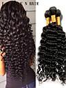 8-26inch brasilianska jungfru hår djupt lockigt naturliga svart färg, billiga brasilianska hår rå människohår väver