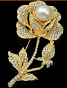 Alliage / Zircon Cubiques / Rose Plaqué Or / Imitation Perle , Autre Mignon / Soirée pour Femme