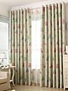 Deux Panneaux Le traitement de fenêtre Méditerranéen Européen Rustique Moderne Néoclassique , Animal Chambre à coucher Polyester Matériel