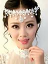 hermosa boda cristales claros de novia diadema / casco