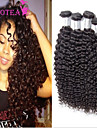 3pcs / lot mongol cheveux crépus bouclés mongol crépus bouclés cheveux vierges armure bouclée cheveux humains non transformés