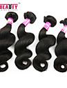 """4 st / lot 12 """"-30"""" 7a peruanska jungfru hår löst våg människohår väft 100% obearbetat peruanska remy hår väver"""