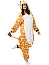 Kigurumi Pyjamas Giraff Trikå/Onesie Festival/högtid Pyjamas med djur halloween Gul Lappverk Polär Ull Kigurumi För UnisexHalloween Jul