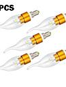 E14 LED-kronljus CA35 3 Högeffekts-LED 300 LM Varmvit Kallvit Dekorativ AC 220-240 V 5 st