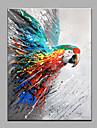 Pictat manual Animal Vertical,Modern Un Panou Hang-pictate pictură în ulei For Pagina de decorare