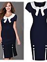 Robes ( Coton mélangé / Polyester ) Vintage / Sexy / Bodycon / Dentelle / Soirée Rond à Manches courtes pour Femme