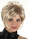 Capless kort syntetisk blandad rakt lockigt hår peruk fullt Hjälp